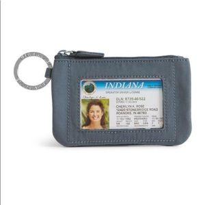 Vera Bradley Zip ID Case Carbon Gray